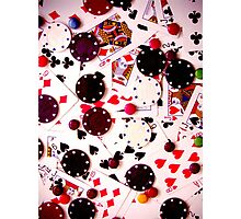 Poker and Chocolate Photographic Print