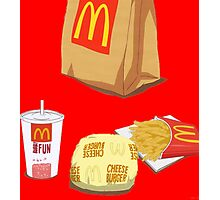 Mcdonalds Dollar Menu Photographic Print