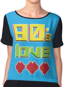 Eighties Love Chiffon Top