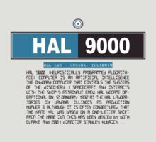 HAL 9000 T-Shirt by theycutthepower