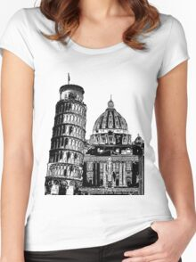 Graphic Italia Women's Fitted Scoop T-Shirt