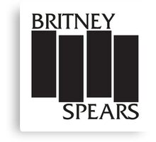 britney spears black flag Canvas Print
