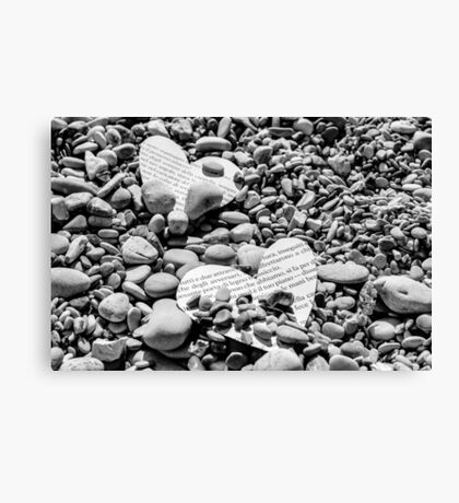 Paper hearts Canvas Print