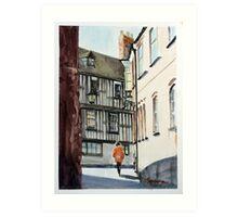 St Mary's Water Lane, Shrewsbury, Shropshire, England Art Print