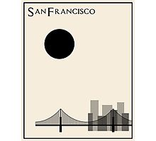 San Francisco Minimalist Travel Poster - Beige Version Photographic Print
