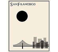 San Francisco Minimalist Travel Poster - Beige Version Photographic Print
