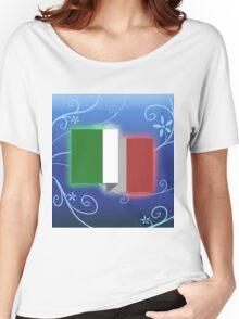 Italian Flag 2D Design Women's Relaxed Fit T-Shirt
