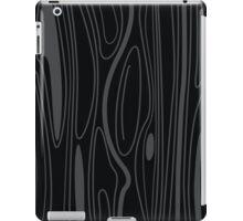 Black wood background texture. wood background design. Wooden texture element. iPad Case/Skin