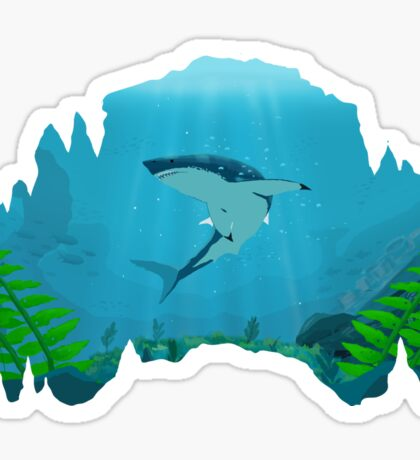 Great White Sharks Sticker