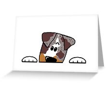 CLD peeking red merle Greeting Card