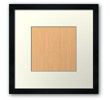Natural beige wood background. Pine wood texture. Framed Print