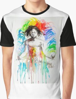 Rainbow Meditation Graphic T-Shirt