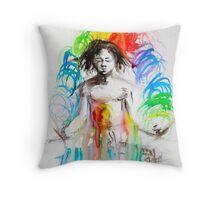 Rainbow Meditation Throw Pillow
