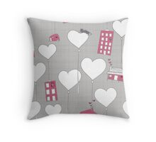 Home is where the heart is whimsy Throw Pillow