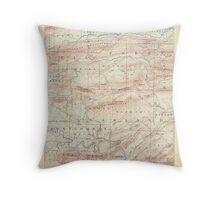 USGS TOPO Map Arkansas AR Hot Springs 260500 1894 125000 Throw Pillow