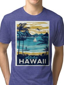 Vintage poster - Hawaii Tri-blend T-Shirt