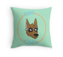 Stay Cool Dog  Throw Pillow