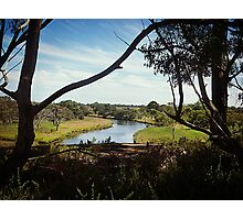 Silhouetted trees along Beautiful Werribee River Photographic Print