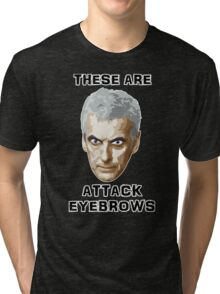 Doctor Who 12 Peter Capaldi - Attack Eyebrows Tri-blend T-Shirt