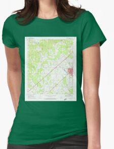 USGS TOPO Map Arkansas AR Prescott West 259456 1970 24000 Womens Fitted T-Shirt