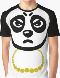 Panda with Gold Chain Tshirt Graphic T-Shirt
