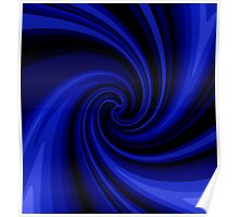 Decorative blue twist Poster