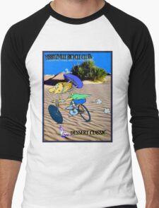 BICYCLE FANTASY; Dessert Classic Race Poster Men's Baseball ¾ T-Shirt