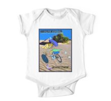 BICYCLE FANTASY; Dessert Classic Race Poster One Piece - Short Sleeve