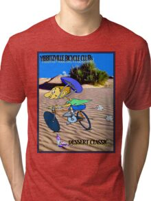BICYCLE FANTASY; Dessert Classic Race Poster Tri-blend T-Shirt