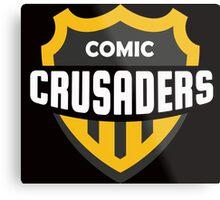 Comic Crusaders Gear 2 Metal Print