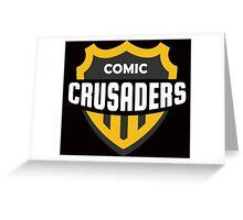 Comic Crusaders Gear 2 Greeting Card