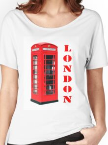 Red London Telephone Box souvenir Women's Relaxed Fit T-Shirt