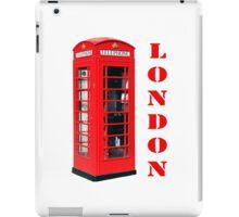 Red London Telephone Box souvenir iPad Case/Skin