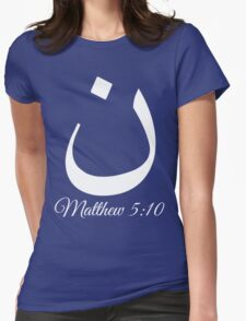 Arabic Letter N Matthew 5:10 Christian Womens Fitted T-Shirt