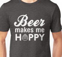Beer makes me hoppy Unisex T-Shirt