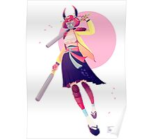 Pastel Samurai Poster