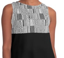 Black and White Geometric Tile and Black Contrast Tank