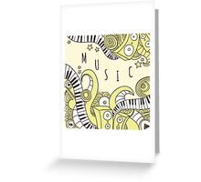 Music print Greeting Card