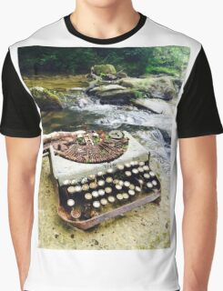 Writing the Old Fashioned Way Graphic T-Shirt