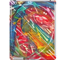 Dance Notation of Dog After Receiving a Treat, watercolor by Dan Vera iPad Case/Skin