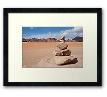 Desert of Wadi Rum Framed Print