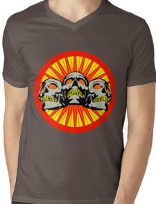 Triple skullz Mens V-Neck T-Shirt