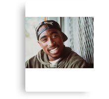2pac White Sox Hat Canvas Print