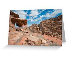 Landscape of Wadi Rum Greeting Card
