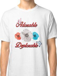 ADORABLE DEPLORABLE DONALD TRUMP HILLARY CLINTON WOMEN'S RED WHITE BLUE 2 Classic T-Shirt