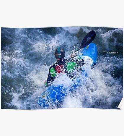 Whitewater Kayaking 1 Poster