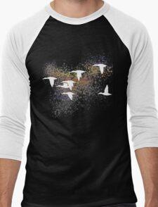 The Flying V Black Variant Men's Baseball ¾ T-Shirt