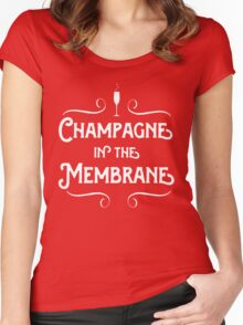 Champagne in the membrane Women's Fitted Scoop T-Shirt