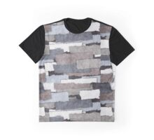 Textured Gray Layers Graphic T-Shirt