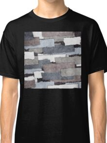 Textured Gray Layers Classic T-Shirt